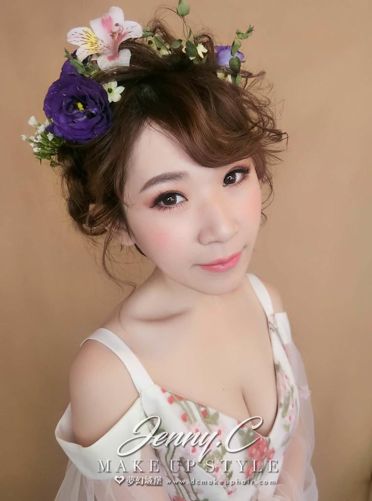 【新秘蓁妮】新娘造型創作 / 鮮花夢幻造型