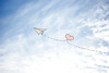 the sky is the limit... (ggcphoto) Tags: sky blue cloud white paperplane pink flying limit nature illustration heart