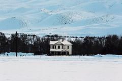 Snowy Ranch House (wyojones) Tags: wyoming cody wapitivalley ranchhouse mountains absarokamountains valley snow cottonwoods trees wyojones np