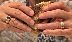 It's a gem of a Reuben (fizzybeth) Tags: picmonkey hands ring food