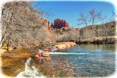Spring in Sedona (lloydboy52) Tags: springinsedona spring sedona arizona landscape stream water redrocks