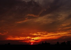 take the long way around your town... (BillsExplorations) Tags: sunset country silhouette thelongway clouds countrysky sky rural illinois bretteldredge field