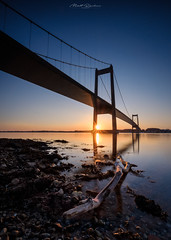 Lillebæltsbro (Matt Rimkus Photography) Tags: denmark lillebæltsbro sunrise bridge longexposure fredericia regionsyddanmark dänemark dk