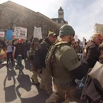 Supporters of gun violence were chased away (25 second snippet) thumbnail