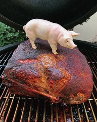 Pig on a Pork Butt (ricko) Tags: pig toy pork porkbutt meat bbq smoker barbeque grill cooking smoking