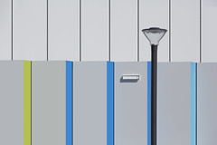 Asymmetric Abstract (JanNiezen) Tags: abstract architecture colors lines blue green lightblue lamp light janniezen netherlands