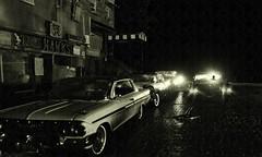 Night Cobblestone Rain 2 (gpholtz) Tags: diorama miniatures 118 diecast impala chevrolet 1961