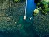 110m Above (mucahits) Tags: drone lake dock coast blue green reeds fromabove droneshot mavic mavicpro