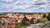 Panorama of Mikulov (Szymon Simon Karkowski) Tags: outdoor panorama landscape city castle building architecture sky cloud clouds trees moravia mikulov czech republic nikon d5100