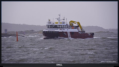 1 of 6 new for my album Working-,  Passenger and Fishing boats (4) (andantheandanthe) Tags: sea blue water sky boat northern energy supply fiskebäck vessel ship waves fairway waterway sealane