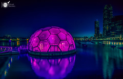 The Dome (Robert Stienstra Photography) Tags: rotterdam rotterdamcityscape 010 cityscape cityscapes bigcity southholland nightscapes nightshots nightlife nightphotography night vision dome purple color longexposure longexposurephotography reflections reflection reflecting nightscene waterscape waterscapes lighted lit lights nightlights atnight beautiful visions nightvisions