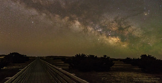 Milky Way over Ranp 25 at OBX Panorama