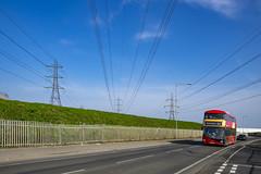 Go Ahead London LT910 LTZ2110 route EL2 Dagenham (TfLbuses) Tags: tfl public transport for london east transit elt red double decker buses wrightbus new routemaster borismaster nb4l hybrid go ahead