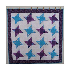 """Friendship Star"" - Baby Quilt (Patchwork Daily Desire) Tags: quilting quilt quilted quilts binding batting blocks babyquilt blue patchworkdailydesire patchwork piecing purple pattern friendshipstar nature flower forest white block scraps crafts cozy"