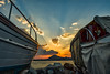 Between The Boats (HDR) (panos_adgr) Tags: nikon d7200 hdr perama greece attica boats sunset clouds sky sea water view seascape