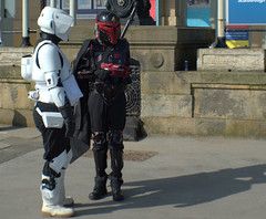 Quick chat (Tony Worrall) Tags: scifiscarborough scarboroughscificonvention2018 sci fi scarborough convention 2018 starwars spa yorkshire cosplay costume play stormtrooper event show fun outdoor bus ride travel holiday film fantasy urban candid people person capture outside outdoors caught photo shoot shot picture captured pictures street photos britain english british gb buy stock sell sale resort england regional region area northern uk update place location north visit county attraction open stream tour country welovethenorth