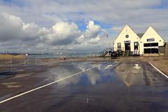 Calshot Lifeboat Station (Hythe Eye) Tags: calshot calshotspit solent hampshire lifeboatstation puddles