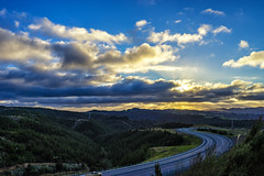 Winding through the sunset (Kitonium) Tags: highway winding road sky clouds sunset landscape outdoor nature sony a7m2 lookout point travelling travelgram roadtrip bbctravel natgeo natgeotravel national geographic lonelyplanet