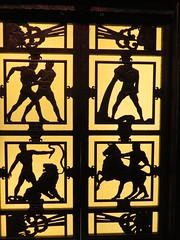 UK - London - City of London - Museum of London - Savoy Grill - Door (JulesFoto) Tags: uk england centrallondonoutdoorgroup clog london savoygrill cityoflondon museumoflondon