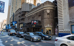 Morning in New York (Oleg.A) Tags: square usa newyork manhattan megalopolis brick city outdoor materials theatre morning blue colorful oldtown broadway summer style street architecture design wall yellow town viewpoint nyc america outdoors theater