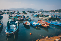 Fishermen boats (]vincent[) Tags: hk hong kong cheung chau vincent portrait people girl ginger emma sony rx 100 mk iv beautiful beer boat bicycle fish shrimp dryed food asia china