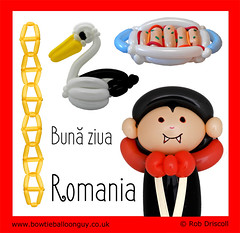It's a Balloon World After All - Romania (magirob) Tags: balloon balloonart twist twisting balloons aroundtheworld around world balloonworld romania transylvania dracula vampire bram stoker horror pelican bird danube delta constantin brâncuși endless column stuffed cabbage leaves samale