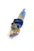 Beachy - 03/18 (Rob Hayman) Tags: nicky mcguire art sticks wood string roper wrap blue