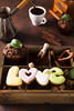 Cup of coffee with cooffee beans, wooden box with grains of coffee and spices, cookies on a stone background (lyule4ik) Tags: coffee box beans wooden anise dark espresso antique breakfast brown cafe caffeine fresh mocha old printer spices sugar tray vintage coffe poster grains black cofee design energy java print retro arabica nut star flavor food agriculture home rustic background concrete gourmet traditional nutmeg leaves mug ingredient ceramic beverage decorative morning