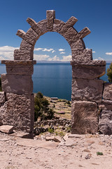 Taquile Island (ghostwheel_in_shadow) Tags: america laketiticaca peru southamerica taquileisland arch architecturalelement architectureandstructures island puno pe