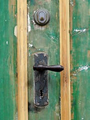 Under restoration (Jaedde & Sis) Tags: door wood handle detail restoring green paint texture challengefactorywinner thechallengefactory