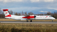 De Havilland Canada DHC-8-402Q OE-LGH Austrian Airlines (William Musculus) Tags: basel mlh mulhouse bsl euroairport airport spotting freiburg oelgh austrian airlines de havilland canada dhc8402q dash 8 q400 bombardier