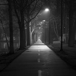 Darkly Lit Path at Night thumbnail