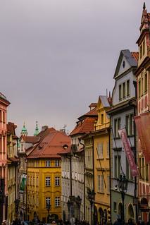 Nerudova Street in Prague