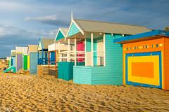 On the beach ... (3B's) Tags: beach australia morningtonpeninsula mountmartha bathingboxes sun