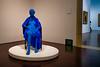 Blue Woman in Black Chair (minus6 (tuan)) Tags: minus6 leicam10 elmarit 28mm blantonmuseumofart austin texas