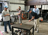 Learning glass blowing. (moreanartscenter) Tags: glass gaffer art learn collaborate teach gather