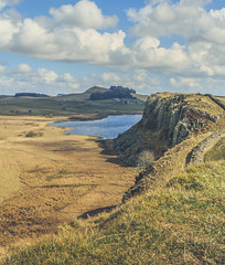 A film Set (Ian Emerson) Tags: set film scenery scenic landscape outdoor rocky rugged northumberland hadrianswall lake water canon hiking england uk nationaltrust nationalpark clouds beauty tree