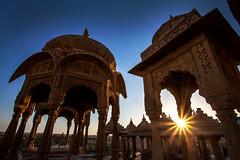 Chetris (dayvmac) Tags: jaisalmer rajasthan temples india sunset