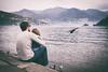 Osservando.. (dellandre80) Tags: como landscape lago lungolago lake lagodicomo comolake italia italy people love famiglia familiy portrait street natura nature nikon d700 2018