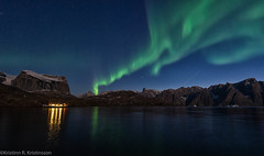 Greenland - Bear Island (Kristinn R.) Tags: greenland northernlights auroraborealis mountains nature sea sky nikonphotography nightimages