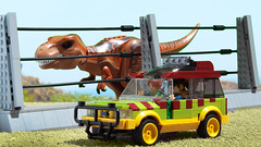 Lego Jurassic Park Ford Explorer (again!) (hachiroku24) Tags: lego jurassic park ford explorer moc movie car