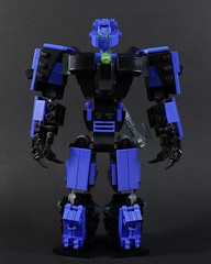 Ben Cossy: Lord of Blue (and sometimes purple) Flames - Murp (MCLegoboy) Tags: lego bionicle moc myowncreation bencossy lord blue purple flames constraction system bionicleinspirationseries selfmoc lightsaber wings ax