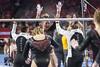 DU Gymnastics - Maddie Karr (brittanyevansphoto) Tags: collegegymnastics ncaagymnastics denvergymnastics unevenbars celebration highfive
