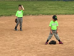"""Rough Day at the Ball Park?"" (Bilfoxx Coyote) Tags: kids funny bored spring teeball baseball"