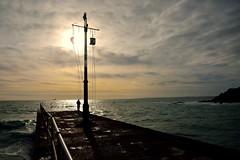 MAR_1813_00002 (Roy Curtis, Cornwall) Tags: uk cornwall porthleven the pier silhouette seaside sea coast