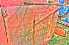 Feed Grain Fertilizer (Christopher Lane Photography) Tags: antique hdr old rust junkyard junk cars