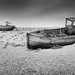 Doubly Wrecked (Billy Currie) Tags: dungeness boat wreck uk england hull wooden wrecked mono black white