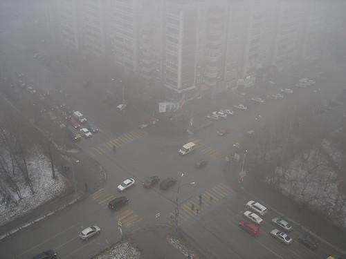 Перекрёсток в тумане ©  ayampolsky