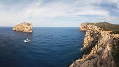 Capo Caccia (Voyages Lambert) Tags: isola alghero travel coastline sardinia vacations nature italy europe summer rockobject cliff island peninsula beach landscape mediterraneansea sea wave capocaccia foradada