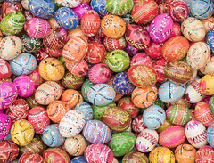 Easter Eggs (Cat Girl 007) Tags: tradition religious easter eastermarket market krakow poland polish europe rustic season pattern holiday group seasonal spring wood wooden vintage traditional symbol color colorful decorated decorative celebration egg eggs many handpainted multi springtime painted multicolored